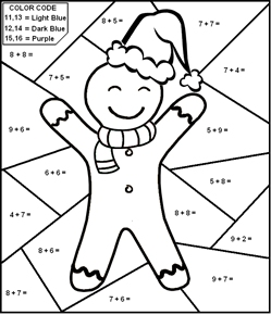 Worksheets Christmas Subtraction Problems math worksheets christmas theme add and color by number based on codes single digit worksheet
